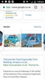 Thomas the tank bed tent