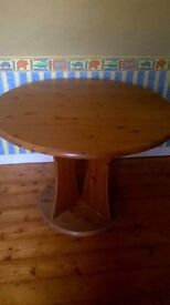 Wooden table. Used but would still do a turn...free to uplift need to get rid as down sizing