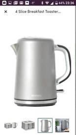 Brabantia digital kettle & 4 slice toaster