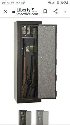 New Black Liberty Fireproof  Gun cabinet safe 5ft tall