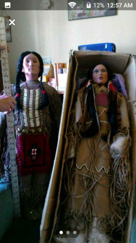 Timeless Collection Porcelain Native American Dolls