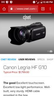 High class video camera