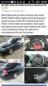 FORD XR6 TURBO LPG Direct injection 189kms Auto Reg Hampton Park Casey Area Preview