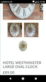 HOTEL WESTMINSTER LARGE OVAL CLOCK