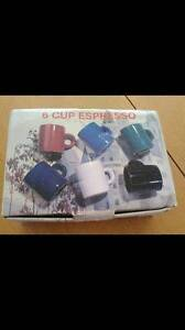 6 Cup Expresso Set....BRAND NEW / NEVER USED IN BOX Burton Salisbury Area Preview
