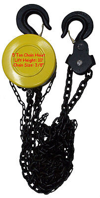 5 Ton 3/8 Chain Hoist Puller Lift Winch Load Block Pulley Come Along