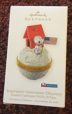 Hallmark Ornament Peanuts Celebrates Nasas 50 Years Dated 2008