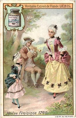 6 Cards c1905 Female Fashion 1760 -1830 Doll Badminton Binocular litho chromos