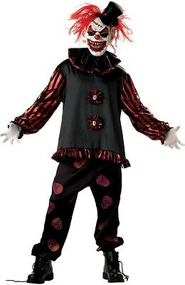 5 Piece Mens Dead Scary Killer Clown + MASK Halloween Fancy Dress Costume Outfit - Halloween Costumes Dead Clowns