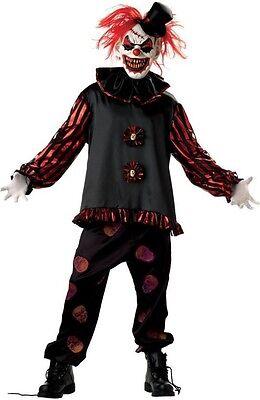 ary Killer Clown + MASK Halloween Fancy Dress Costume Outfit (Dead Clown Halloween)