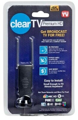 Clear TV Premium HD Mini Digital Antenna 4K Ready Free TV Home Cable Easy To Use for sale  Shipping to India