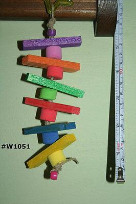 Wood Bird Cage Toy, Wood Chew,Blocks,Parrot,Pet Bird Toy,Rainbow*USA Seller*