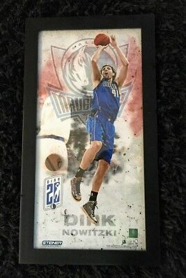 fbee4001788 Framed Dirk Nowitzki 20th anniv limited edition print w piece of game-used  ball
