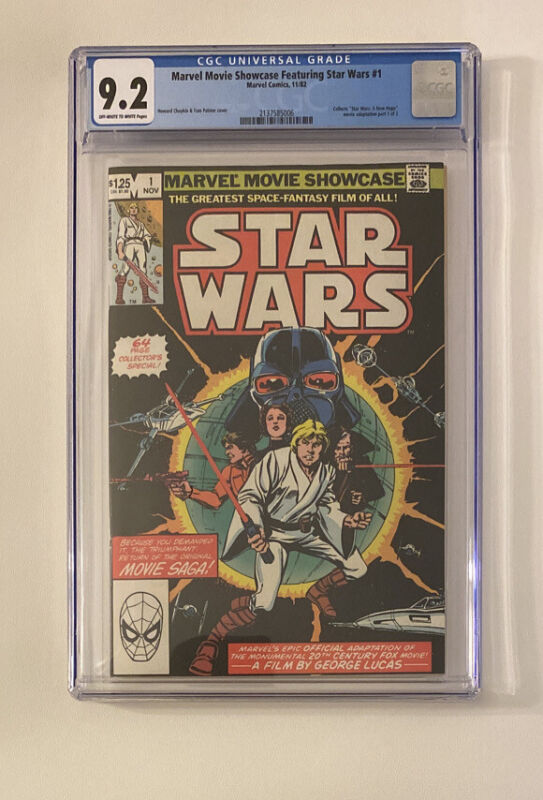 1982 MARVEL MOVIE SHOWCASE FEATURING STAR WARS #1 CGC 9.2
