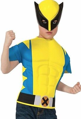 Xmen Kostüme (XMen Wolverine Marvel Comics Boys Muscle Chest Shirt Halloween Costume Size 8-10)