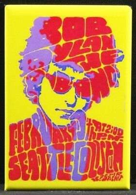 "Bob Dylan Concert Poster 2"" X 3"" Fridge / Locker Magnet. Seattle"