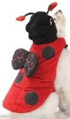 N HA12 RED LADYBUG TINY DOG COSTUME - XS (Halloween-ha)