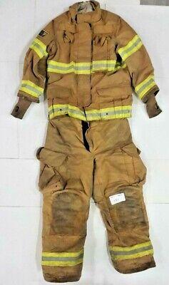 Firefighter Turnout Set Brown Janesville Lion Jacket 40x32 Pants 40x30 S57