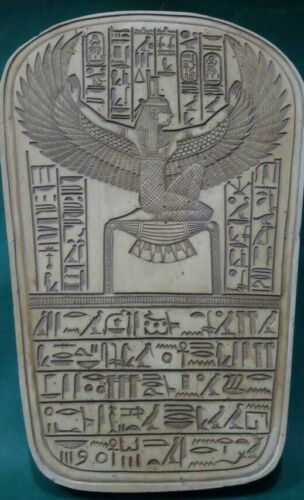 Rare Ancient Egyptian Antiques Goddess Winged Isis Egypt Stela Relif Stone BC