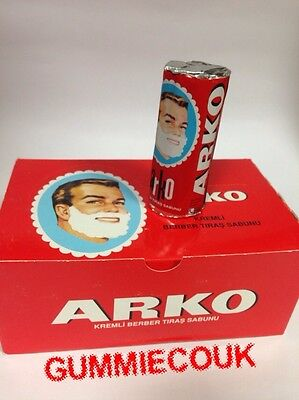ARKO SHAVING CREAM SOAP STICK 6 PIECES Best Soap For Turkish Wet Shave Free P&P