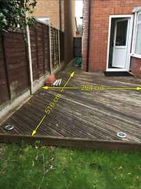Used garden decking ( Buyer to Dismantle & Transport)