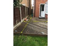 Used garden decking ( Buyer to Dismantle & Transport)