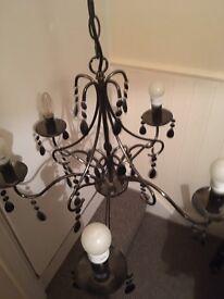 Beautiful black chandelier light