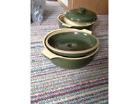 Two DENBY casserole dishes, great XMAS present