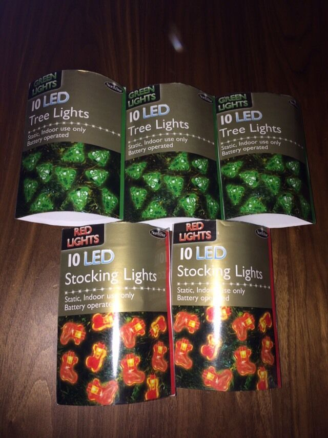 Christmas Lights Indoor Battery Ed X5 Packs New