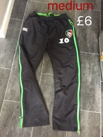 Tigers Leicester rugby medium trousers
