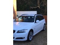 White BMW 3 series estate **£30 tax**