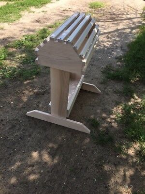 NEW Handmade Solid Maple Saddle Rack Stand W/tray