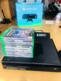 Xbox one 1tb & 10 games, 3 controllers