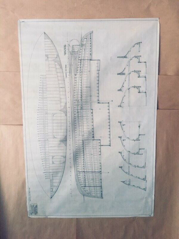 California Yachts 1930 Architectural Drawings, C D Mabry, 41x28 Orig.