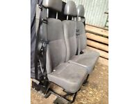 Set of transit van 3rd row seats , complete with seat belts attached