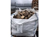 Wooden Logs, 1 tonne bags, Reclaimed Timber, Recycled block