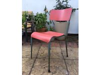 Vintage School Stacking Chairs DU-AL 1960's (x4)