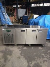 Commercial bench counter pizza fridge for shop pizza meat chiller fdss