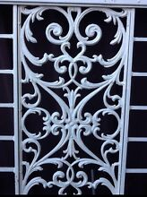 Solid White Metal Outdoor Double Gate and Frame Security Door Queanbeyan Queanbeyan Area Preview