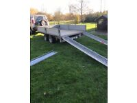 """Ifor Williams LM126G Trailer / 12' Long X 6'6"""" Wide - VERY GOOD CONDITION & INCLUDES RAMPS!"""