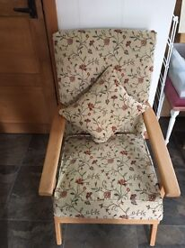 Pretty easy chair and matching stool
