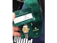 Ladies Rolex Datejust Midi Two Tone 18k 69163