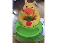 Giraffe sit me up baby seat with tray