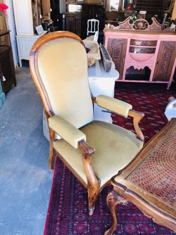Antique French Recliner Reclining Chair