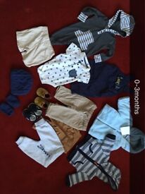 0-3months baby boy clothes & shoes