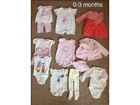 Baby girl clothes 0-3 / 3-6 / 6-12 months