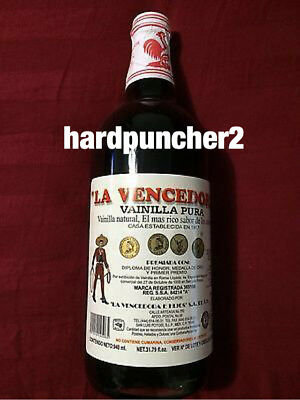 1 Bottle Mexican Vanilla Glass  La Vencedora (Liter) Money Back Guarantee