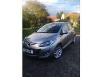 Mazda 2, 1.6 diesel sport. 2012. Silver . Highly economical car