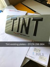 Replacement Number Plates -Tint - Cherished / Private Reg - 3d Gel Domed Car Van Bike Trailer Quad