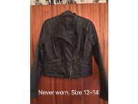Ladies Leather Jacket Size 12-14